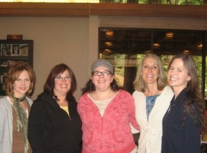 L-R: InkBlotz Writers Group members Joanne Reese, Cheri Williams, Catherine Felt, Hillari Delgado, Jennifer Vallier