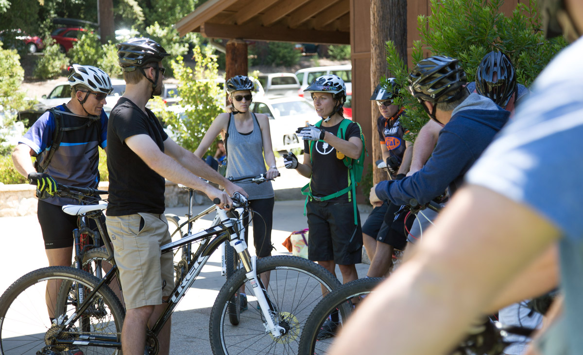 teaching mountain bike