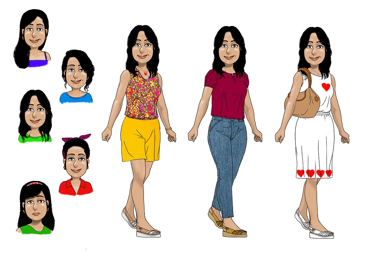 variety of women characters